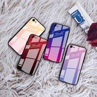 حالات الزجاج المقسى التدرج ل iPhone XS ماكس XR X الملونة غطاء الهاتف المحمول واقية شل 6 ثانية 7 8 زائد