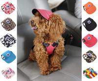 كلب قبعة مع ثقوب الأذن الصيف قماش قبعة بيسبول على الحيوانات الأليفة الصغيرة الكلب في الهواء الطلق المشي لمسافات طويلة اكسسوارات منتجات الحيوانات الأليفة 11 أنماط S-XL شحن مجاني