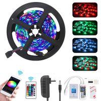 Striscia WiFi LED RGB 5M RGB 2835 SMD 5050 flessibile del nastro RGB impermeabile 5M LED Tape Diode WiFi telecomando
