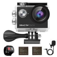 Cámara dragón táctil 4K acción de la cámara de visión 4 EIS 16MP WiFi bajo el agua con control remoto Deportes Soporte de micrófono externo