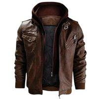 Cuero de los hombres de las chaquetas de otoño de Nueva Casual PU de la motocicleta chaqueta de cuero de tamaño Coats Europea chaquetas envío de la gota de la venta caliente JAYCOSIN
