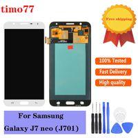 Orijinal Dokunmatik Paneller Testi Strictly Tam Sayısallaştırıcı Meclisi Süper Kalite Samsung Galaxy J7 Neo J701 J701F J701M J701MT Yedek LCD Ekran