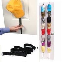 1PC Adjustable Cap Rack Baseball Hat Holder Storage Organizer Over The Door Closet Collection Display Strap Household Storage
