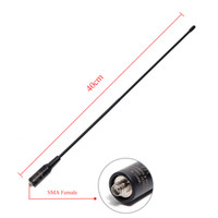 Nagoya NA-771 Solidité Laser Imprimer SMA-femelle bi-bande 144 / 430MHz Antenne pour Baofeng UV-5R UV-82 UV-9R plus Talkie Walkie