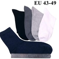 10PCS=5 Pairs Men Cotton Socks Plus Extra Large Big Size 45,46,47,48,49 Business Dress Socks Long Tube Crew Meias Calcetines Sox