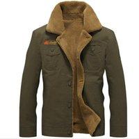 US army warm fleece men jacket lapel collar outdoor winter sugar Daddy multi pocket men's outwear coats plus size M-5XL