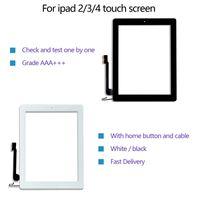Qualité d'écran tactile pour iPad 2/3/4 Digitizer Ensemble de remplacement avant de rechange avec bouton de la maison