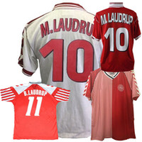 الرجعية الدنمارك لكرة القدم بالقميص 1986 1992 1998 الدنمارك المنزل بعيدا هاينتسه B.LAUDRUP M.LAUDRUP الرجعية قميص كرة القدم S-2XL