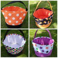 Trucco Halloween regalo Secchio Wrap Stampa Bambino Candy Bag Collection or Treat borsa della maniglia Festival bagagli carrello trasporto marittimo LJJP422