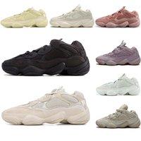 جودة عالية 500 صحراء الجرذ الاحذية الرجال والنساء من جلد الغزال أسود أبيض أحذية رياضية عصرية أحجام 36 إلى 45