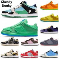 2020 Chunky DUNKY 1 de los zapatos corrientes de baja Auténtico zapatillas de París SP Brasil fuera Conceptos VALENTINE x para mujer para hombre del patín Deportes Entrenadores