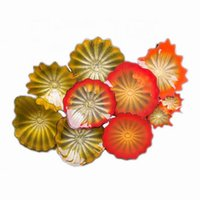 2020 100% Mouth Blown Borosilicate Living Room Wall Plates Art Decoration Chihuly Style Multicolor Glass Wall Lamp