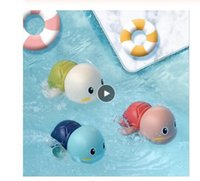 Nette Luft Inflation Spielzeug Schildkröte Baby-Bad-lustige Spielzeug-Karikatur-Wind-up-Schildkröte schwimmt automatisch Klassisches Kinderspiel