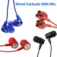 السلكية سماعات ستيريو 3.5mm سماعات الأذن في الأذن السماعة الموسيقية مع مايكروفون سوبر مسح سماعات الأذن لالهاتف الخليوي MP3 الألعاب
