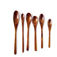 200pcs / lot Eco-friendly Natural de madeira Stir Spoon Coffee colher de chá de sopa de açúcar Mel Sobremesa Aperitivo tempero Bistro colher pequena