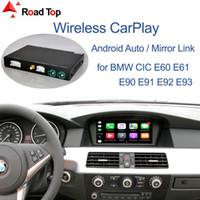 Sans fil carplay pour BMW Série 3 E90 E91 E92 E93 Série 5 E60 E61 2008-2013, avec Android Mirror Auto Link AirPlay jeu de voiture