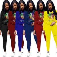Kadınlar 3XL 4XL Artı Boyutu Hoodies + Pantolon İki Parçalı Set Uzun Kollu Sweative Güz Winte Daha Büyük Boyutu Kıyafetler Jogger Suit Siyah Eşofman 3626