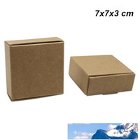 7x7x3 cm Brown 30 Pieces Kraft Paper Handmade Soap Pack Box ...