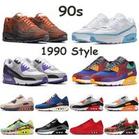 1990 homens estilo de corrida sapatos dos anos 90 mars pouso invicto azul fúria couro vela hiper uva vermelha solar, tênis rosa preto turquesa