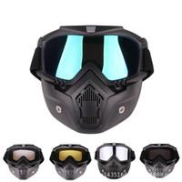 Sports d'hiver Ski Snowboard Ski Masque Montagne Lunettes Masques Refroidir Hommes Femmes Cyclisme moteur Goggle Lunettes