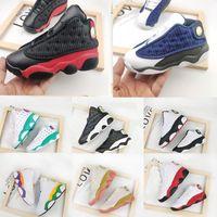 Bébé Jumpman 13 enfants Chaussures de basket jeunes enfants sport 13s Chaussures de sport pour filles de garçon Chaussures taille blanc noir 22-35
