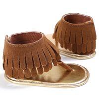 Pattini della neonata bambini nappa flip flop scarpe prewalker del bambino per ragazze Anti Slip estate Newborn bambini Primi camminatori