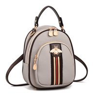 2019 High quality PU Backpack Leisure backpack lady bag travel bag Small big capacity Handbag Woman bag Backpack Style Fashion Bags Mini D47