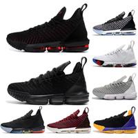 con calcetines gratis 16s zapatos de baloncesto de igualdad para hombres James Sneakers Mira el trono King Oreo New-lebron 16 de alta calidad EUR 40-46