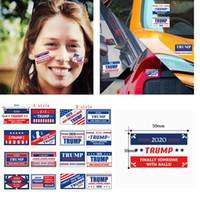 Trump 2020 Cara Calcomanías rollo presidente de Estados Unidos Elección General Trump Keep America Gran ropa del cuerpo del coche del partido desfile pegatinas FFA4379