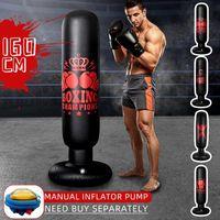 Sac à sable Entraînement Fitness Vertical Gonflable Boxe PVC Épaississement Pilier Tumbler Columning Tool Tool Pompe à air