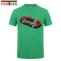 Japan RX7 T-Shirt Männer Lustiges Super Car Inner Diagramm T-Shirt Kurzarm Rund Kragen Baumwolle Custom Race Car Blueprint-T-Shirt
