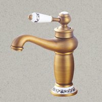 Antique Bronze Brass Faucet Gold Hot And Cold Water Kitchen ...