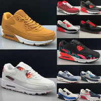 Nike air max 90 Running shoes Men shoes 실행 신발 남성 스니커즈 신발 스포츠 트레이너 쿠션 (90) 표면 통기성 스포츠 신발 40 ~ 45