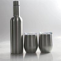 750ml Wine Tumbler Set Edelstahl Tumbler Doppelwand-Vakuum-Wein-Glas-Isolierung Wasserflasche Paket Kaffeetasse Duty-Free A02