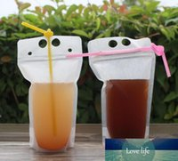 250ml,500ml,750ml,1000ml Plastic Frosted Drink Packaging Bag Clear Pouch for Beverage Juice Milk Coffee SN119