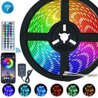 10M WiFi LED Strip Light RGB 2835 SMD 5050 Flexible Ribbon Waterproof RGB LED Light 5M Tape Diode Lamp WiFi Remote Controller