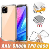 Para iPhone 12 Pro MAX XS 8 Plus Suave Transparente TPU Samsung Nota 20 A21s S20 Além disso A71 à prova de choque Tampa de protecção com OPP Bag