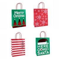 حقائب هدايا عيد الميلاد حقائب سانتا شجرة عيد الميلاد كرافت ورقة التعامل مع المحمولة ميلاد سعيد هدايا عيد الميلاد تخزين الحقيبة VT1619