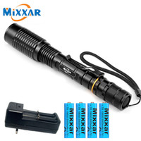 ZK20 mixxar Dropshipping T6 LED Flashlight 5-Modes Adjustable zoom Torch 4x18650 batteries Camping Working Lamp Light lantern Y200727