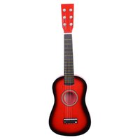 23 inch rode gitaar beginners Oefen akoestische gitaren met Pick 6-string voor kinderen Kinderen Muziekinstrument Amerikaanse voorraad