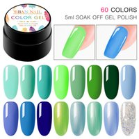 RBAN NAIL Color Gel Paint UV Nail Gel Soak Off Art Led Lacquer 60 Colors Glitter Rainbow Painting Polish