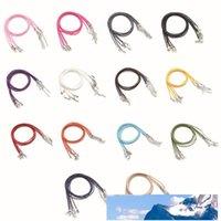 20pcs / lot Hummer-Haken-Leder-Seil-Halskette Dia 1.5mm Korean Cotton Gewachste Schnur Gewinde Halskette Art und Weise DIY Schmuck 15 Farben en gros