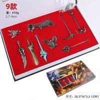 2.7-9 cm Çocuklar Alaşım Kahraman Silahlar İttifak Anahtarlıklar LOL Ligleri Anahtar Knifes Modeli Metal Oyunu Anahtarlık Takı Aksesuarları Hatıra Eşyası G Okqp