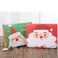 Noel Büyük Hediye Kutusu Santa Peri Tasarım Papercard Kraft Mevcut Parti Favor Aktivite Kutusu Kırmızı Yeşil EEA684