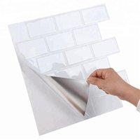 큰 크기 12 * 12 인치 셀프 접착 방수 내열 벽 스티커 비닐 벽지 3D 껍질과 스틱 모자이크 타일