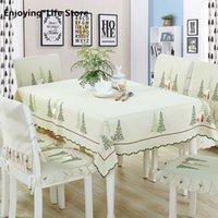 Обеденный стол Cover Set Nordic Прямоугольная Скатерть Председатель Обложка Свадьба Рождество Подушка вышитая Скатерти