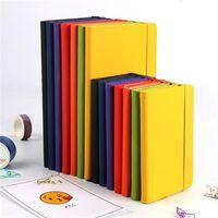 7 Cores A5 Caderno Caderno PU Couro Clássico Diário Diário Notepad Escritório Business Book Com Fechamento Elástico Bandado