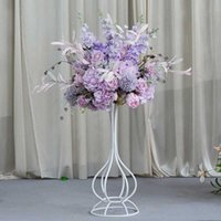 Decorative Flowers & Wreaths Wedding Road Lead Wrought Iron Geometric Box Floral Rectangular Centerpiece Ball For T Platform Window Decor