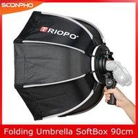 TRIOPO 90cm faltbare Softbox Octagon Softbox w / Handle für Godox Yongnuo Speedlite-Blitzlicht Fotostudio Zubehör