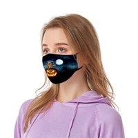 US-Lager Halloween-Schädel-Jocker Erwachsene Partei-Gesichtsmasken Cotton Outdoor Radfahren Staubdichtes PM2.5 Horror Designer Mund Masken FY9183